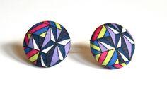 New Geometric Bright Ear Studs Earrings Liberty of by DustyJo