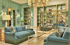 Tory Burch Georgetown store rendering sofa bullion fringe