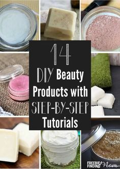 Are you tired of buying expensive beauty products loaded with chemicals? If so, you'll be excited to know that making homemade beauty products is simpler than you may think and better for your skin. Here you'll find 14 DIY beauty recipes with complete step-by-step tutorials. Discover how quickly and easily you can whip up your own homemade mineral make up, lotion bars, acne treatment, hair mask, lip gloss, body scrub, shaving cream, and more. #Beautydiy