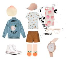 a whole lot of peach by roger-chickenstein on Polyvore featuring polyvore мода style Être Cécile rag & bone Forever 21 Converse Olivia Burton Chloé Tony Moly fashion clothing