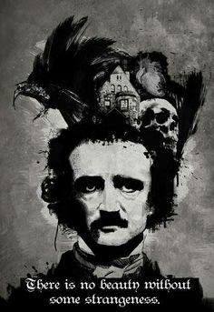 Edgar Allan Poe - illustration by Darkillangel