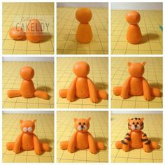 Cat/ tiger/ lion basic fondant shape