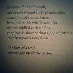 excerpt from 'lying with wolves' from her larger collection 'the animal bridegroom'-sandra kasturi