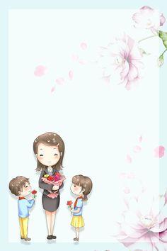 Student Cartoon, Teacher Cartoon, Teachers Day Card, Happy Teachers Day, 14 Month Old Baby, Teacher Images, Mother's Day Background, Painting Teacher, Flower Graphic Design