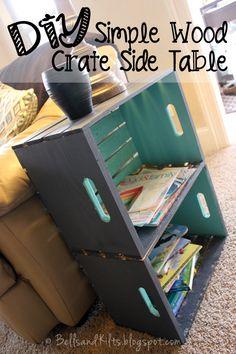 DIY Simple Wood Crate Side Table