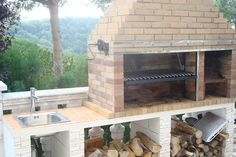 Le plus à jour Pic Barbacoa argentina Suggestions Brick Oven Outdoor, Outdoor Kitchen Patio, Pizza Oven Outdoor, Outdoor Cooking, Design Barbecue, Grill Design, Asado Grill, Bbq Grill, Fire Pit Backyard