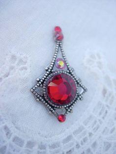 Crimson Droplet Bindi  swarovski belly dance tribal by KuhlJewels, $12.00