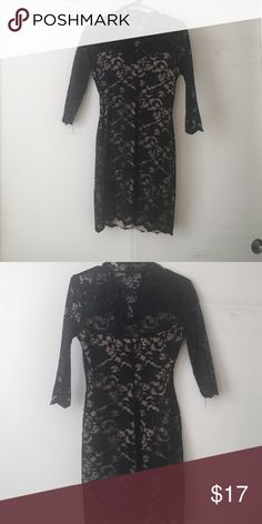 Lace body con dress Black lace body in dress with skin toned lining, this dress is classy and curve hugging for any night out! B Darlin Dresses Mini