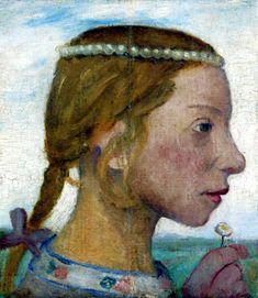 Paula Modersohn-Becker - Elsbeth mit Perlenkette