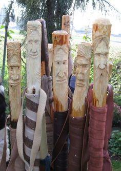 Wood Spirit Walking Sticks