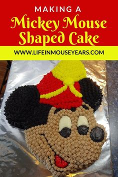 Have you made a character cake from a shaped cake pan? It is so much fun to do! This post shares how to make a Mickey Mouse shaped cake. Whether you do a Mickey cake or another Disney character, this post will help you to make a cake for yourself or someone you love! Click the link to find out more. Make A Character, Character Cakes, Mickey Cakes, Disneyland Resort, How To Make Cake, Mickey Mouse, Crochet Hats, Shapes, Disney Characters