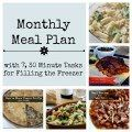 Nov Monthly Meal Plan with 7, 30 minute tasks for filling the freezer