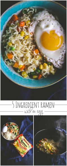 5 Ingredient ramen with an egg from @sweepthi , easy dinner recipe, 5 ingredient recipes, 15 minute dinner
