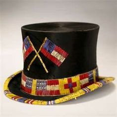 Antique top hat, Native Indian bead work