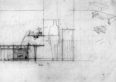 Sketches for the modulor, Le Corbusier