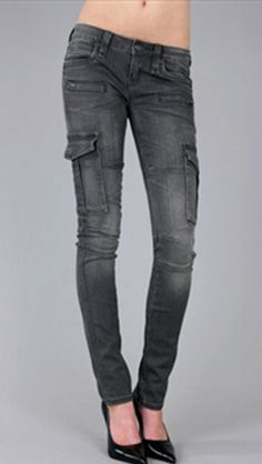 Rock Revival Jeans Aylin Cargo Skinny Womens Low Rise in Gray Size 25 only $79 #RockRevival #SlimSkinny Miss Me Outfits, Rock Revival Jeans, My Outfit, Slim, Skinny, Fashion Outfits, Best Deals, Pants, Clothes