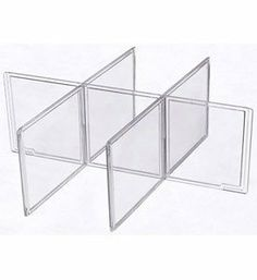Clothing Storage Drawer Dividers Small by Aberdeen Plastics. $7.97. Designed to slide and lock securely in place inside the matching Small Stacking Clothing Storage Drawer .. Drawer Dividers for Small Clothing Drawer Features. Creates six divided compartments for simple storage and organization of socks undergarments intimate apparel and other clothing accessories.. Constructed entirely in the USA with sturdy crystal clear plastic.. A great solution for keeping garments and c...