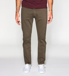 Slim Fit Twill Pant, Army by Kodenko on Scoutmob