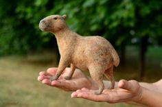 Needle felted capibara by Krupennikova Oxana. Войлочная игрушка капибара. Мастер войлочных игрушек Крупенникова Оксана.
