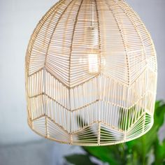 These gorgeous hand made rattan lights come in a bell-shape design and woven zig zag detailing. Each light comes with wiring, and is available in two different sizes.