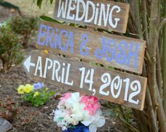 Wedding Signage ANY COLOR Reclaimed Wood Reception Decorations. Eco Wedding. Fall Country  Wedding Outside Decor