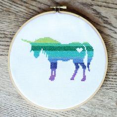 unicorn counted cross stitch pattern cg