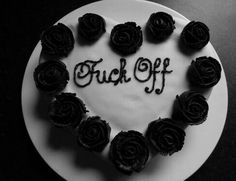cake, black, and rose image