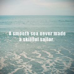 Smooth seas are not always the best