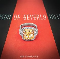 NBA player Nick Young popped the question to rapper girlfriend Iggy Azalea with this 10.43-ct. ring. Young, known as Swaggy P, designed the ring, worth an estimated $500,000, with the help of Jason of Beverly Hills. The center stone is an 8.15-carat cushion-cut fancy intense yellow diamond, with a white diamond halo and smaller accent diamonds on the shank. Would you need a security guard to sport this ring? Or just a really expensive insurance policy?! ;-) www.diamonds.pro