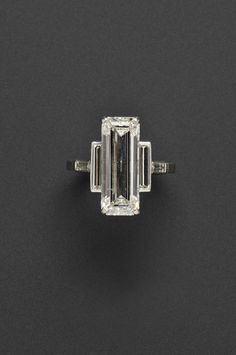 Beautiful!!!# 7.75-CARAT DIAMOND CARTIER RING to be auctioned at Skinners in Boston I like the deco design but can't pony up the $80,000-100,000 it will go for