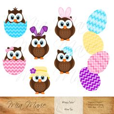 INSTANT DOWNLOAD  Digital Clip Art  Easter clipart by MyMiaMarie, $4.50