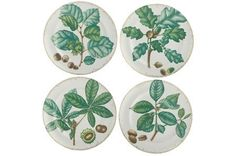 Mottahedeh Nut Leaf Dessert Plates | Set of 4