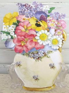 """Carol Wilson Happy Birthday Card for Her, Cheerful Vased Flowers by Carol Wilson Fine Arts, Inc.. $3.99. Beautifully embossed 5"""" x 7"""" greeting card with envelope."""