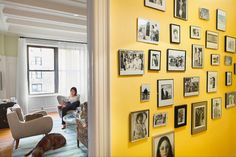 A Real Estate Chain of Admiration, Love and Envy Photo Wall Collage, Collage Walls, Picture Wall, House Slide, Yellow Walls, First Home, Stores, Family Pictures, Family Room