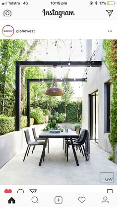 Outdoor gardens Garden Outdoor pergola Courtyard garden Outdoor inspirations Outdoor patio - Decorate the terrace nicely with fairy lights - Outdoor Pergola, Wooden Pergola, Outdoor Spaces, Backyard Pergola, Metal Pergola, Cheap Pergola, Small Pergola, Outdoor Patios, Building A Pergola