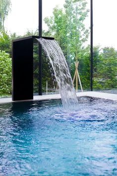 _MG_7056©_Gabriel_Büchelmeier Gabriel, Interior Architects, Water Features, Waterfall, Architecture, Design, Outdoor, Pools, Modern Interior Decorating
