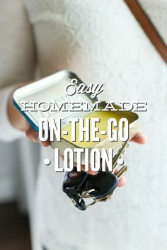 Take homemade lotion on the go with this super easy 3-ingredient recipe! So easy--takes less than 15 minutes from start to finish and lasts up to 12 months! Moisturize your hands, naturally, on-the-go.