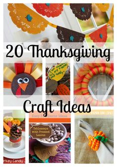 Thanksgiving Crafts and DIY Ideas