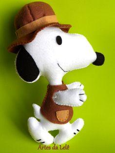 Snoopy aventureiro.