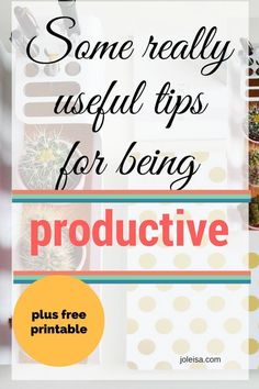 Just how productive is productive? So that after implementing these tips you start to get much more important things done daily and still have time for you!