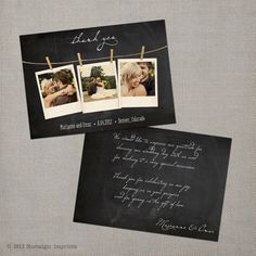 © 2012 Nostalgic Imprints    Say thank you to your wedding guests and vendors with this 5x7 vintage photo thank you card. This listing is for a