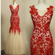 Han edition sexy v-neck handmade 2014 new high-grade red lace a toast to the bride married long tail cultivate one's morality dress