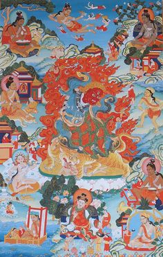 The magnificent Dorje Drollo is a wrathful manifestation of Padmasambhava. Wielding a Vajra and Phurba he rides a tiger and his power subdues all negative forces.