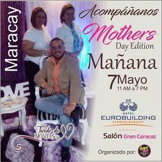 Aprovecha y conoce a los Wedding Planners de @tardedenoviasvzla y conversa de tus ideas para tu boda.  Mañana es tu oportunidad para conocernos y compartir en el @eurobuildingmcy Salón Gran Caracas desde las 11:00 am en nuestro Mothers Day Edition organizado por @hyperfestproducciones. Te esperamos!  Contáctanos: tardedenoviasvzla@gmail.com  Síguelos:  @tardedenoviasvzla  @tardedenoviasvzla @tardedenoviasvzla.  #publicidad @publiciudadmcy.  #tardedenoviasvzla #mothersday #weddingplanner…