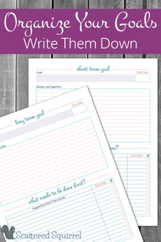 Use these free printable goal setting worksheets to make the most of the goals you set by taking some time to write them down and plan them out.