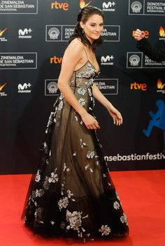 "Shailene Woodley in Valentino attending the premiere of ""Snowden"" during the 64th San Sebastian International Film Festival at the Maria Cristina Hostel in San Sebastian, Spain (II)"
