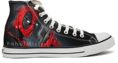Marvel Deadpool Custom-Made Converse Sneakers