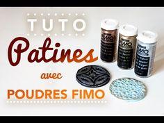 [TUTO] Utiliser les poudres FIMO comme patine crème - YouTube