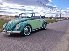 Volkswagen Germany, Car Painting, Vw Beetles, Norway, Convertible, Antique Cars, Vw Bugs, Cool Stuff, World