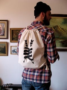DIRK Ride Free Canvas Backpack Tote by internationalbirds on Etsy, $40.00